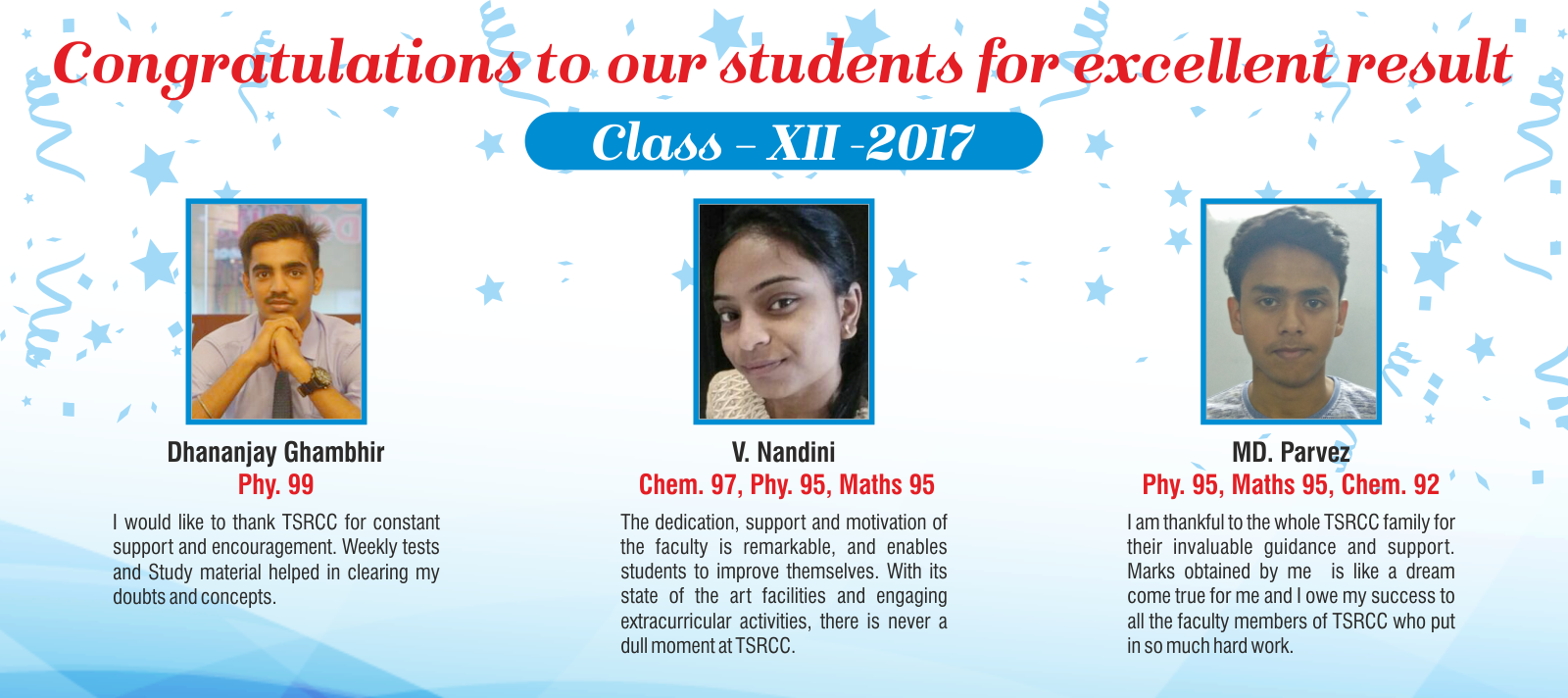 Result Class XII -2017